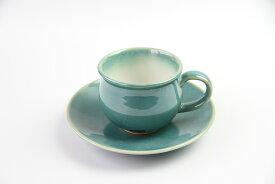 流紋焼 会津本郷焼 小丸コーヒーカップ&ソーサーセット 4個