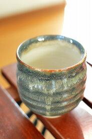 【会津 本郷焼】流紋焼 手造り湯呑 グレー 4個
