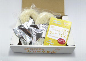 【笑いーと】【米粉麺】いわき米粉麺 カレーうどん(白米めん(中太・2個)カレースープ(2袋))