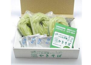 【笑いーと】【米粉麺】いわきねぎ麺 塩焼きそば(ねぎ練りこみ米麺(中太・3個)粉末塩ソース(3袋))
