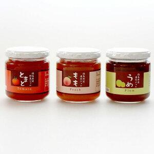 【送料無料】【ジャム】【明陽食品】【国産】福島県産果実ジャム 3個セット (もも、梅、トマト)