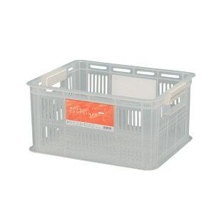メッシュコンテナ BMC-18 クリア/ホワイト【アイリスオーヤマ】【プラスチック 小物収納 アウトドア収納 整理整頓 家具】
