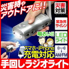 アイリスオーヤマ手回し充電ラジオライトJTL-23
