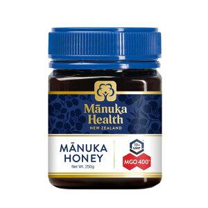 マヌカヘルス マヌカハニー MGO400+/UMF13+ 250g [正規品 ニュージーランド産] 送料無料 はちみつ マヌカ manuka 正規輸入 富永貿易 のど 抗菌作用 ウイルス 蜂蜜 ハチミツ MANUKA HEALTH NEW ZEALAND