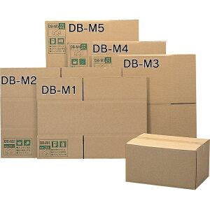 段ボールBOX DB-M1【幅44×奥行32×高さ23.6(cm)】お引越しや荷物の整理に!梱包用品、荷造り、段ボール箱【アイリスオーヤマ】5419