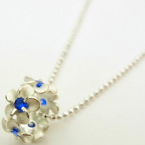 ブルーCZ プルメリアチューブハワイアンジュエリーペンダントトップ KT131 樽型 バレル型 ハワイアンジュエリーネックレス ペンダントヘッド シルバー925 (チェーンセットも選べます)プレゼント ギフト 人気 ギフトHawaiian jewelry