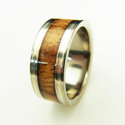 チタンコアウッド ハワイアンジュエリー リング ペアリング TWR1002 チタニウム 指輪 コアウッドリング チタンリング メンズ 【宅配便送料無料】Hawaiian Jewelry 指輪 シンプル 人気 ギフト