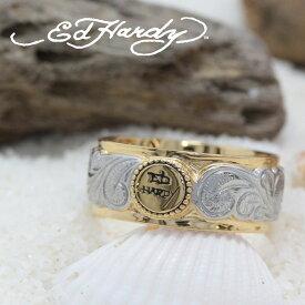 ハワイアンジュエリー リング ピンキーリング Ed Hardy エドハーディー EDHARDY 公式ライセンス ステンレス ハワイアンジュエリー ペアリング 人気 おすすめ ギフト プレゼント ご褒美 EDSF-001メンズ レディース サージカルステンレス アクセサリー 人気Hawaiian jewelry