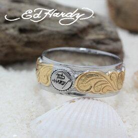 ハワイアンジュエリー リング ピンキーリング Ed Hardy エドハーディー EDHARDY 公式ライセンス ステンレス ハワイアンジュエリー ペアリング 人気 おすすめ ギフト プレゼント ご褒美 EDSF-003メンズ レディース サージカルステンレス アクセサリー 人気Hawaiian jewelry