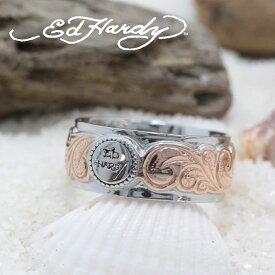 ハワイアンジュエリー リング ピンキーリング Ed Hardy エドハーディー EDHARDY 公式ライセンス ステンレス ハワイアンジュエリー ペアリング 人気 おすすめ ギフト プレゼント ご褒美 EDSF-004メンズ レディース サージカルステンレス アクセサリー 人気Hawaiian jewelry