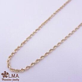 14金イエローゴールド ロープチェーン 40cm or 45cm ハワイアンジュエリーネックレス SCYGRP4012 14Kイエローゴールドネックレス 14金イエローゴールド 人気 ギフトHawaiian jewelryプチギフト