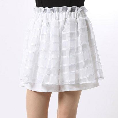 【アウトレット】アンチュール エミュ Unchulle' emu レーススカート風ミニキュロット (ホワイト)