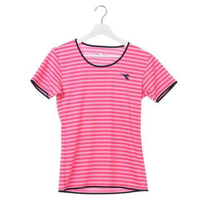 ディアドラ Diadora レディース テニス 半袖Tシャツ W ボーダートップ DTL7545