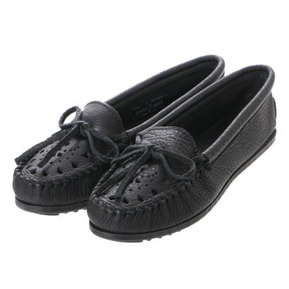 ミネトンカ Minnetonka mi-cut-out-leather-moc-200v (BLACK)