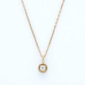 ソーイ sowi 【K10】ラウンドダイヤ ネックレス (ゴールド)