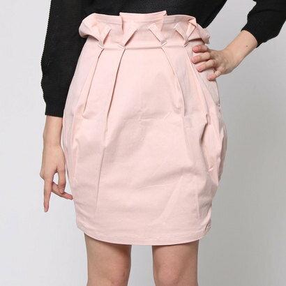 【アウトレット】アンチュール エミュ Unchulle' emu タックコクーンスカート (ピンク)