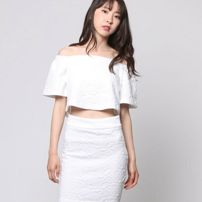 【アウトレット】ゲス GUESS OFF SHOULDER KATIA TOP (TRUE WHITE)