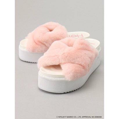 【アウトレット】イーハイフンワールドギャラリー E hyphen world gallery Hello Kitty ファーサンダル (Pink)