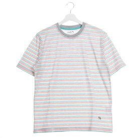 【アウトレット】アーノルドパーマー arnold palmer 天竺ボーダークルーTシャツ (グレー)