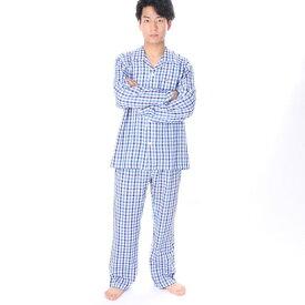 【アウトレット】アーノルドパーマー arnold palmer ガーゼチェックパジャマ (ブルー)