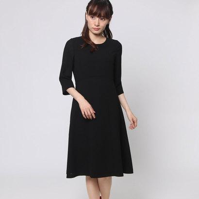 ブラックギャラリー BLACK GALLERY 切り替えサマーワンピース (ブラック) [ブラックフォーマル 夏用 喪服 礼服]