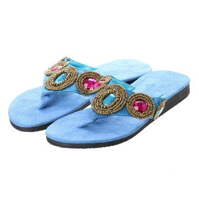 【チャイハネ】Kids' Sandals / プリキラサンダル ブルー
