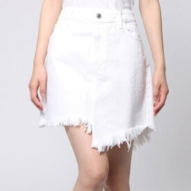 【アウトレット】ゲス GUESS STELLA RE-ENGINEERED WHITE DENIM SKIRT (OPTIC WHITE)