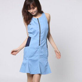 【アウトレット】ゲス GUESS JEANCARE FLARED DENIM DRESS (SILICONE RINSE)