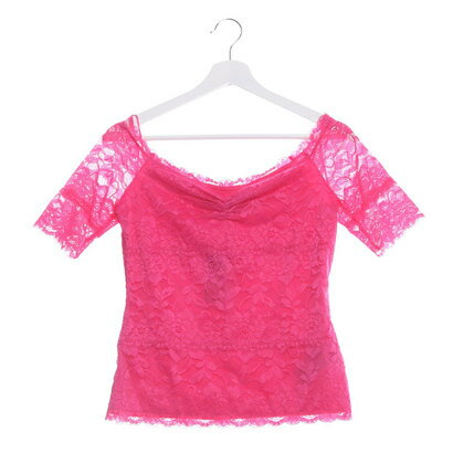 【アウトレット】ゲス GUESS HALF-SLEEVE OFF-SHOULDER LACE TOP (JEALOUS PINK)