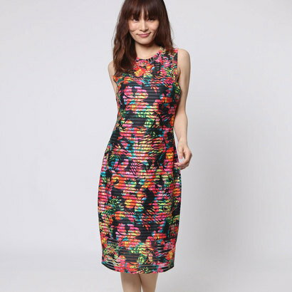 【アウトレット】ゲス GUESS SL CATRINA DRESS (JET BLACK MULTI)