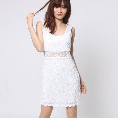 【アウトレット】ゲス GUESS SL TIARA TIGER-LACE TWO-WAY DRESS (TRUE WHITE)