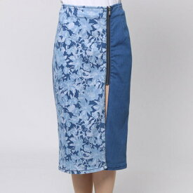 【アウトレット】ゲス GUESS WINDSURF PUSH-UP LONGETTE DENIM SKIRT (BAY WINDOW WASH)