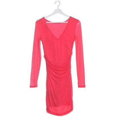 【アウトレット】ゲス GUESS L/S V-BACK DRESS (ROUGE PINK)