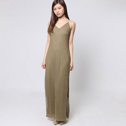 【アウトレット】ゲス GUESS SL JAMILA MAXI DRESS (OLIVINE)