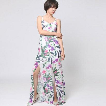 【アウトレット】ゲス GUESS ANTOINETTE FLORAL-PRINT MAXI DRESS (FLOWER EXPLOSION COMBO)