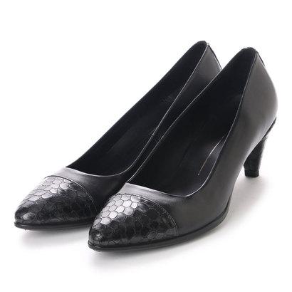 エコー ECCO Shape 45 Pointy Sleek (BLACK/BLACK-BUFFED SILVER)