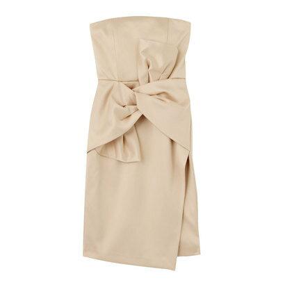 ラグナムーン LAGUNAMOON Ladyベアツイストラップドレス (サーモンピンク)