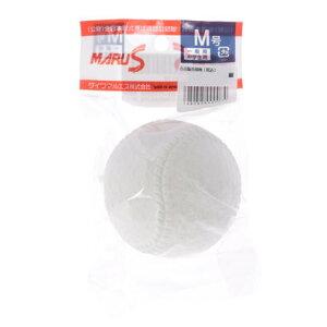 マルエス Maruesu 軟式野球 試合球 マルエスボール新意匠公認球M号1個入れヘッタ?パック 15710