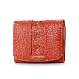 3ee167b4ebf7 カンサイ ヤマモト ファム KANSAI YAMAMOTO FEMME 中L字ファスナー2つ折財布 (オレンジ)