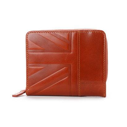 ミチコ ロンドン MICHIKO LONDON ラウンドファスナー二つ折財布 (オレンジ)