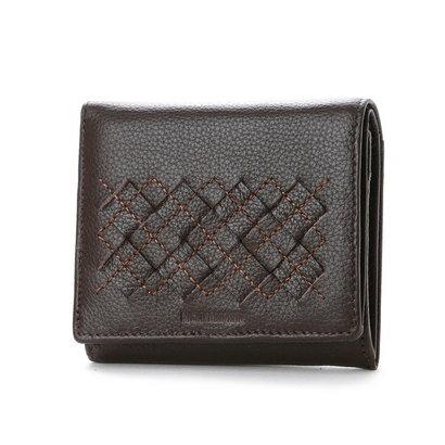 ミチコ ロンドン MICHIKO LONDON ボックス型コインケース付2つ折財布 (ダークブラウン)