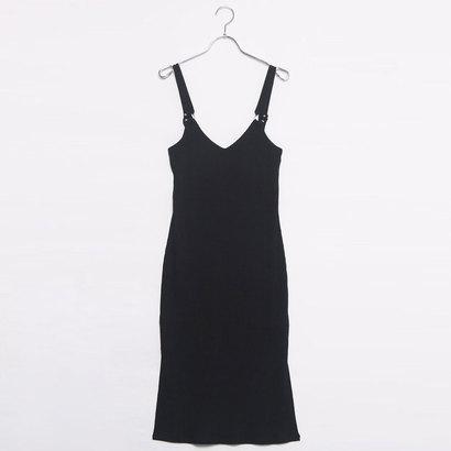 ゲス GUESS SL KENDALL BULLRING TANK DRESS (JET BLACK)