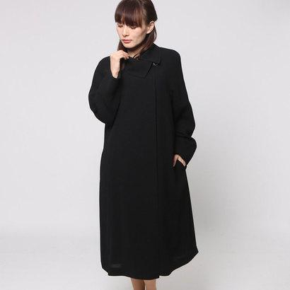 ソリテール SORITEAL 取り外し可能なキルトライナー付き アシメショール衿のコート (ブラック) [ブラックフォーマル 喪服 礼服]
