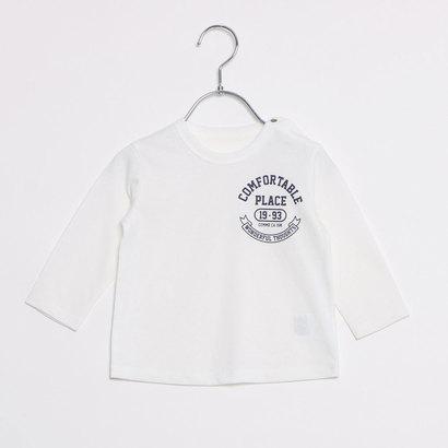 コムサイズム COMME CA ISM カレッジ調プリント長袖Tシャツ (ホワイト)
