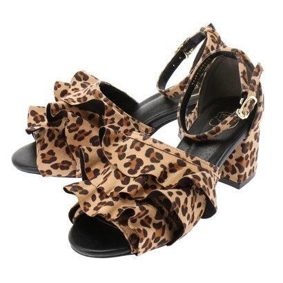 イーハイフンワールドギャラリー E hyphen world gallery フリルパンプス (Leopard)