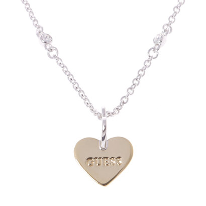 ゲス GUESS ME & YOU TWISTED HEARTS & CRYSTAL NECKLACE (SILVER/GOLD) (SILVER/GOLD)