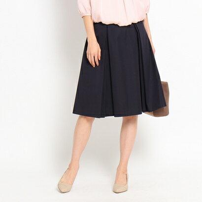 アンタイトル UNTITLED 〔洗える〕ボックスプリーツスカート (ブルー系)