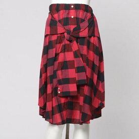 【アウトレット】アンタイトル UNTITLED outlet バッファローチェック袖付スカート (ピンク)