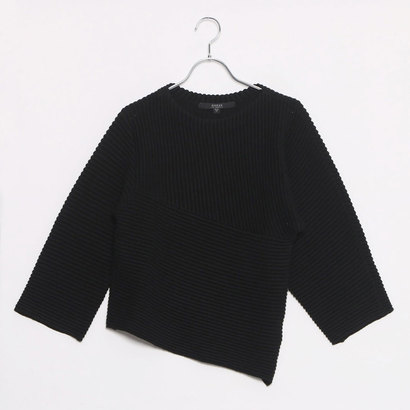 【アウトレット】ゲス GUESS 3QUARTER SLEEVE ORIEL PULLOVER SWEATER (JET BLACK)