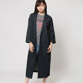 【アウトレット】ゲス GUESS LONGLINE DENIM DUSTER (RINSE WASH)